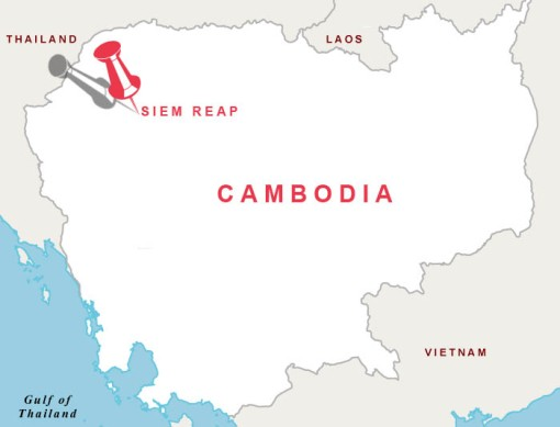 Map featuring Siem Reap